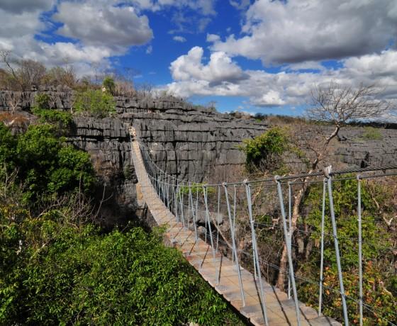 Die berühmtem Tsingys de Bemaraha in Madagaskar