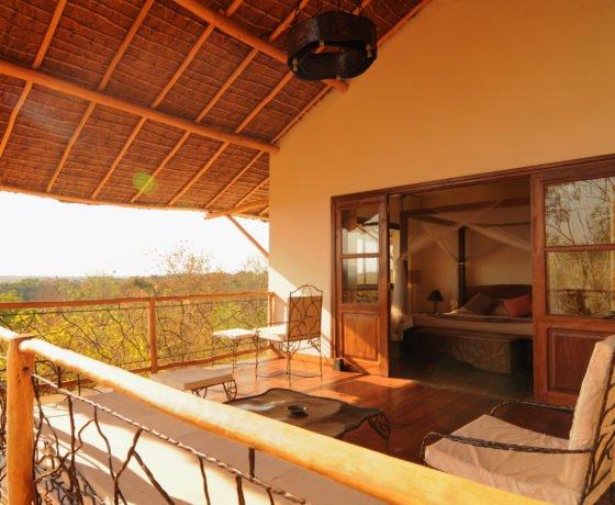 Ihre Terrasse mit Aussicht auf den Dschungel von Madagaskar