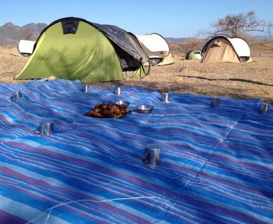 Camping während einer Madagaskar Abenteuerreise