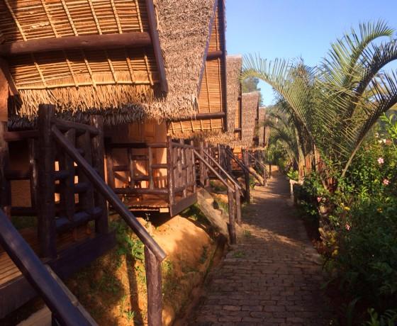 Bungalows während unserer Madagaskar Rundreise Zauber der Ostkpse