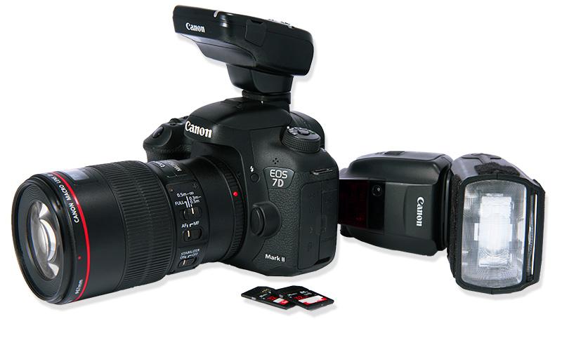 Canon Kamera mit Blitz und SD-Karten Tanalahorizon